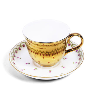 Gold Teacup and Crescent China saucer c.1900