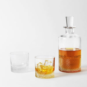 Richard Brendon Cut Crystal Diamond Whisky Set for Two