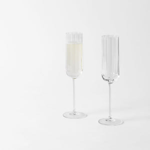 Richard Brendon Cut Crystal Champagne Flute