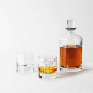 Richard Brendon Cut Crystal Fluted Whisky Set for Two