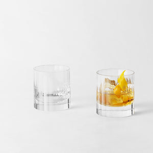 Set of 2 Double Old Fashioned – Fluted