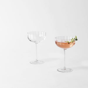 Richard Brendon Cut Crystal Fluted Coupe Set for Two