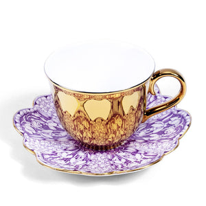 Gold Teacup and Foley china saucer c1900