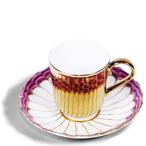 Gold Espresso Cup & Chelsea Derby Saucer, c.1770