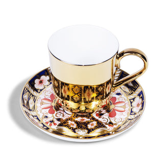 Gold Espresso Cup & Royal Crown Derby Saucer, c.1911