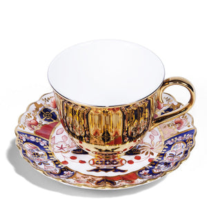 Gold Teacup & Copeland China Saucer, c.1891