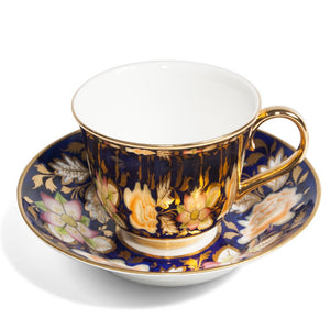 Gold Teacup & New Hall Saucer, c.1820
