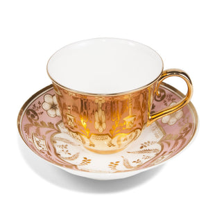 Gold Teacup & Spode Saucer, c.1800