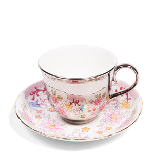 Platinum Teacup & New Chelsea Saucer, c.1940
