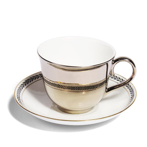 Platinum Teacup & Paragon China Saucer, c.1920