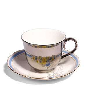 Richard Brendon Reflect Platinum Teacup Roslyn Saucer c.1950