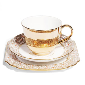 Gold Teacup & Gladstone China Saucer, c.1930