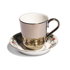 Richard Brendon Reflect Platinum Espresso Cup with George Proctor c.1930 Antique Saucer