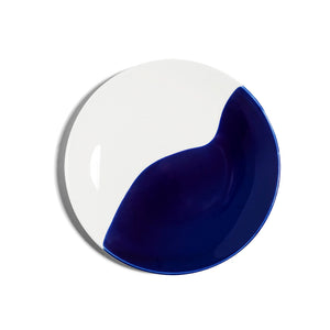 Richard Brendon Creamware Dip Collection Cobalt Plate