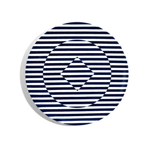 24cm Coupe Salad Plate - Superstripe