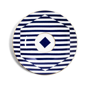 Richard Brendon Superstripe Reflect Fine Bone China Teacup and Saucer