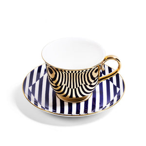 Gold Teacup & Saucer - Superstripe