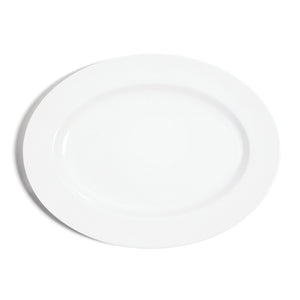 40cm Oval Serving Plate - White