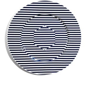 34cm Rimmed Charger - Superstripe