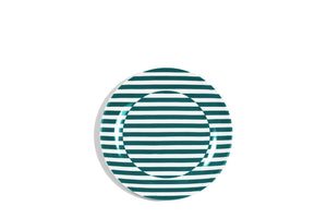 17cm Coupe Bread Plate Teal