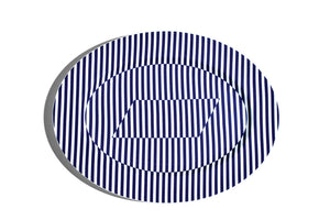 40cm Oval Serving Plate - Superstripe