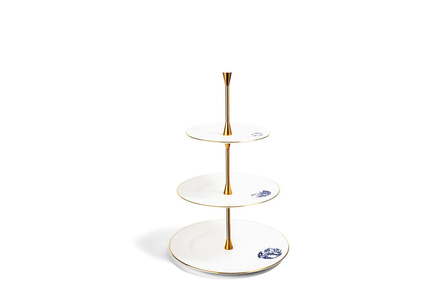 3 Tier Cake Stand Gold
