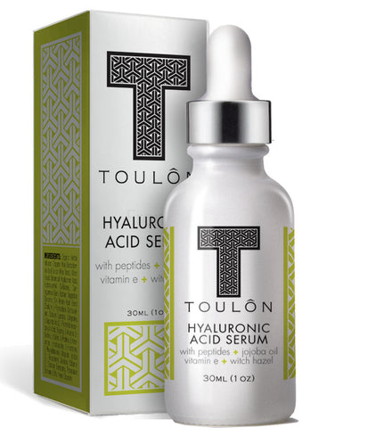 Hyaluronic Acid Serum with Peptides, Jojoba Oil, Vitamin E and Witch Hazel