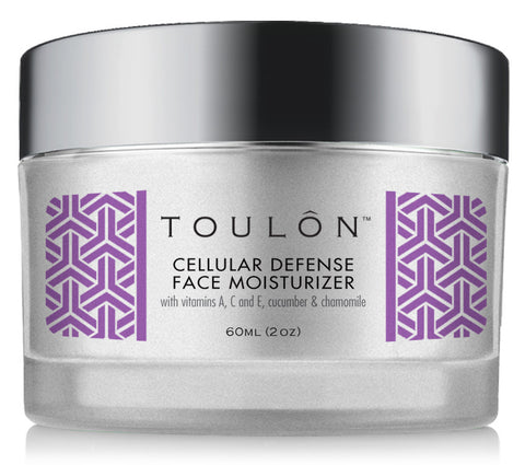 Cellular Defense Face Moisturizer with Vitamins A, C + E, Cucumber and Chamomile