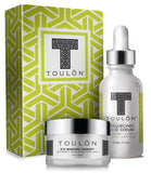 TOULON Beauty Gift SET. Includes Hyaluronic Acid Serum & Eye Cream: a Perfect Holiday Gift!