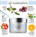 Glycolic Acid Creme 10% Face Moisturiser. Best Alpha Hydroxy Acid Products for Night & Day; Anti Ageing Moisturiser - Exfoliating, Anti-Wrinkle Lotion with AHA for Acne Prone Skin; Natural Exfoliator for Men and Women