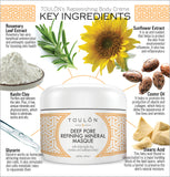 Deep Pore Refining Mineral Masque with White Kaolin Clay, Rosemary and Sunflower Extract
