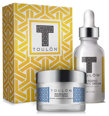 Vitamin C Skin Care Gift Box For Her (or Him). Includes Vitamin C Serum and Daily Moisturizer
