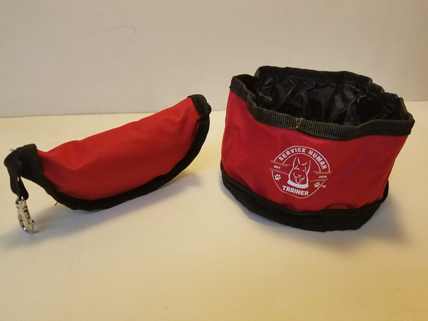 Zippered Pet Food Travel Bowl - Trainer Dog
