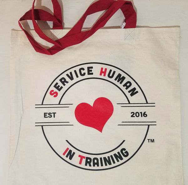 Canvas Tote Bags (Hearts in Training)