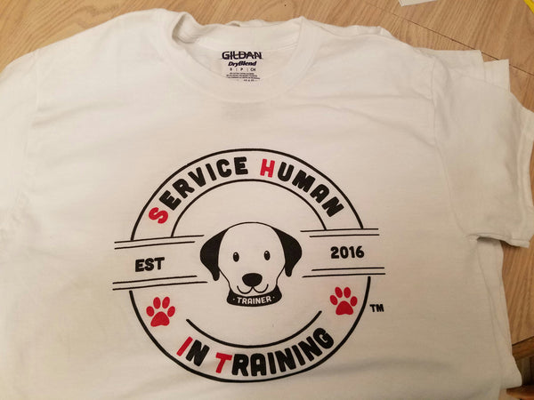 Dog - Service Human in Training (SHiT) T-Shirts