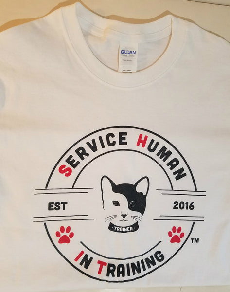 Ying Yang Cat - Service Human in Training (SHiT) T-Shirts