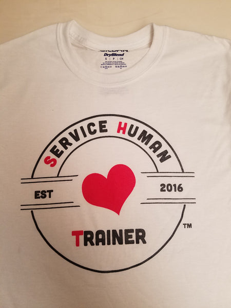 Tilted Heart - Service Human Trainer T-Shirts