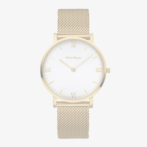 Gold womans mesh watch