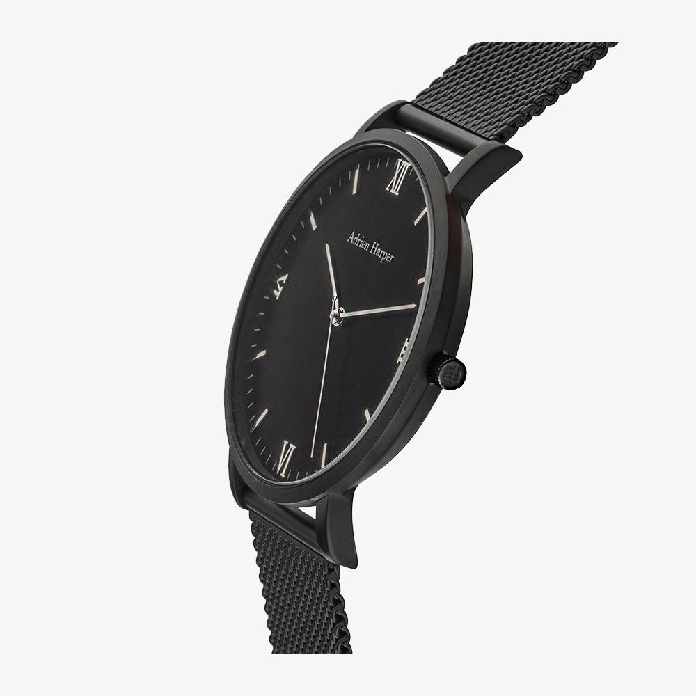 All black mens mesh watch