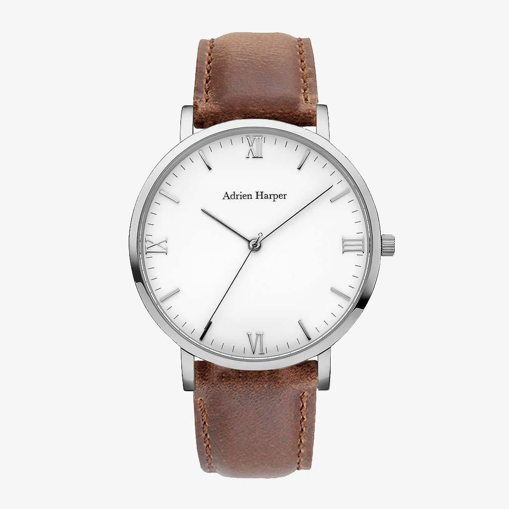 MENS classic WATCH BROWN STRAP