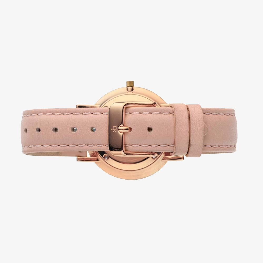 Rose Gold Woman's Watch Pink Leather Adrien Harper Watches