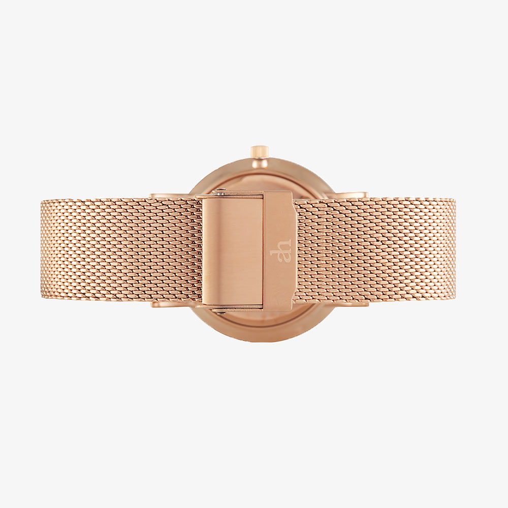 Rose White - Rose Gold Mesh