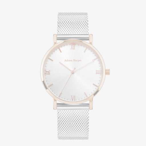 Rose Gold Woman's Mesh Watch Adrien Harper Watches