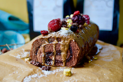 Easy 20 mins Vegan Chocolate Swiss Roll Cake