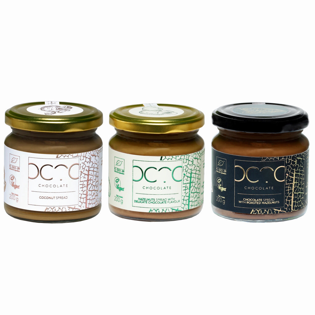 Buy Special Offer Trio Of Octo Spreads 200g X3 At Chocolate Nutella Hazelnut Spread With Cocoa 200gr