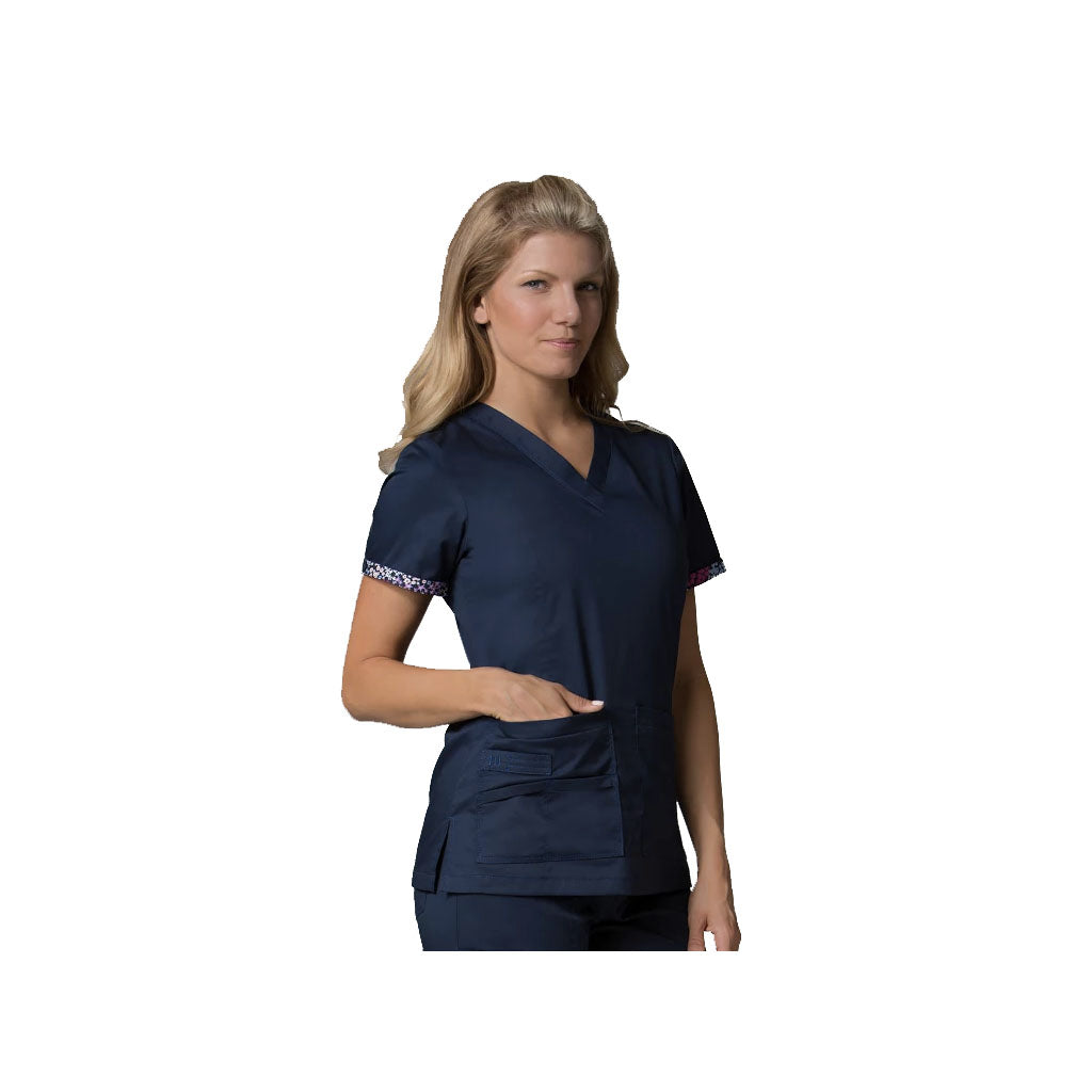 Navy childcare uniforms & stately grey childcare uniforms that will make your logo pop.