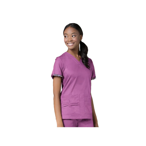 Orchid purple dog grooming uniform & dog grooming uniforms