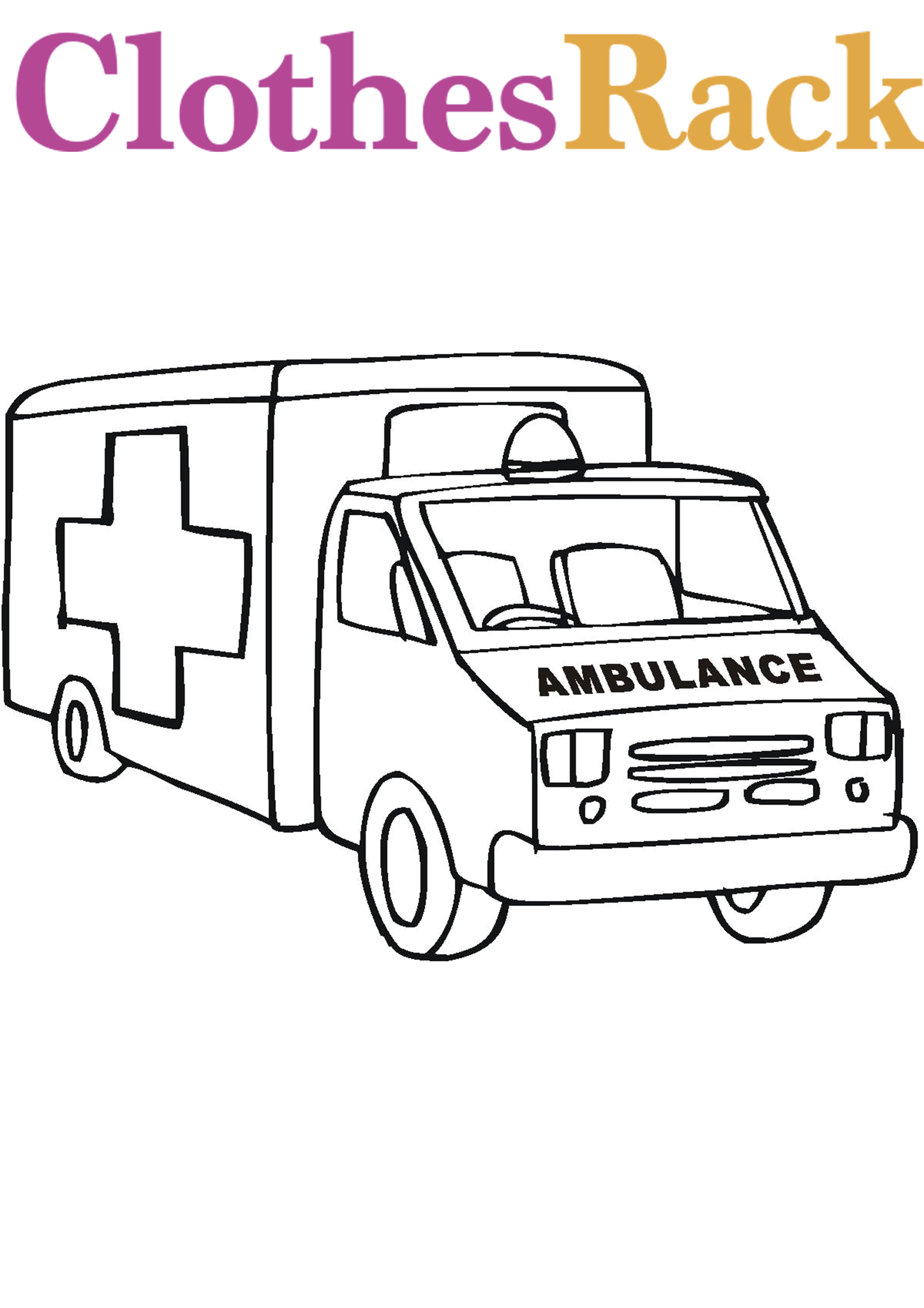 Ambulance Colouring Page | Ambulance Colouring Pictures | Ambulance Pictures To Colour
