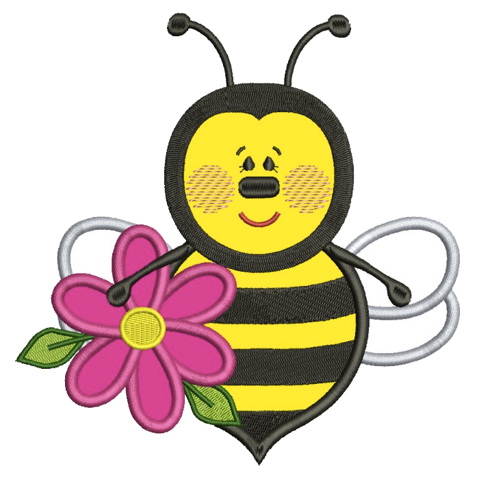 Bumble bee daycare logo suitable for uniform embroidery on uniforms for childcare workers