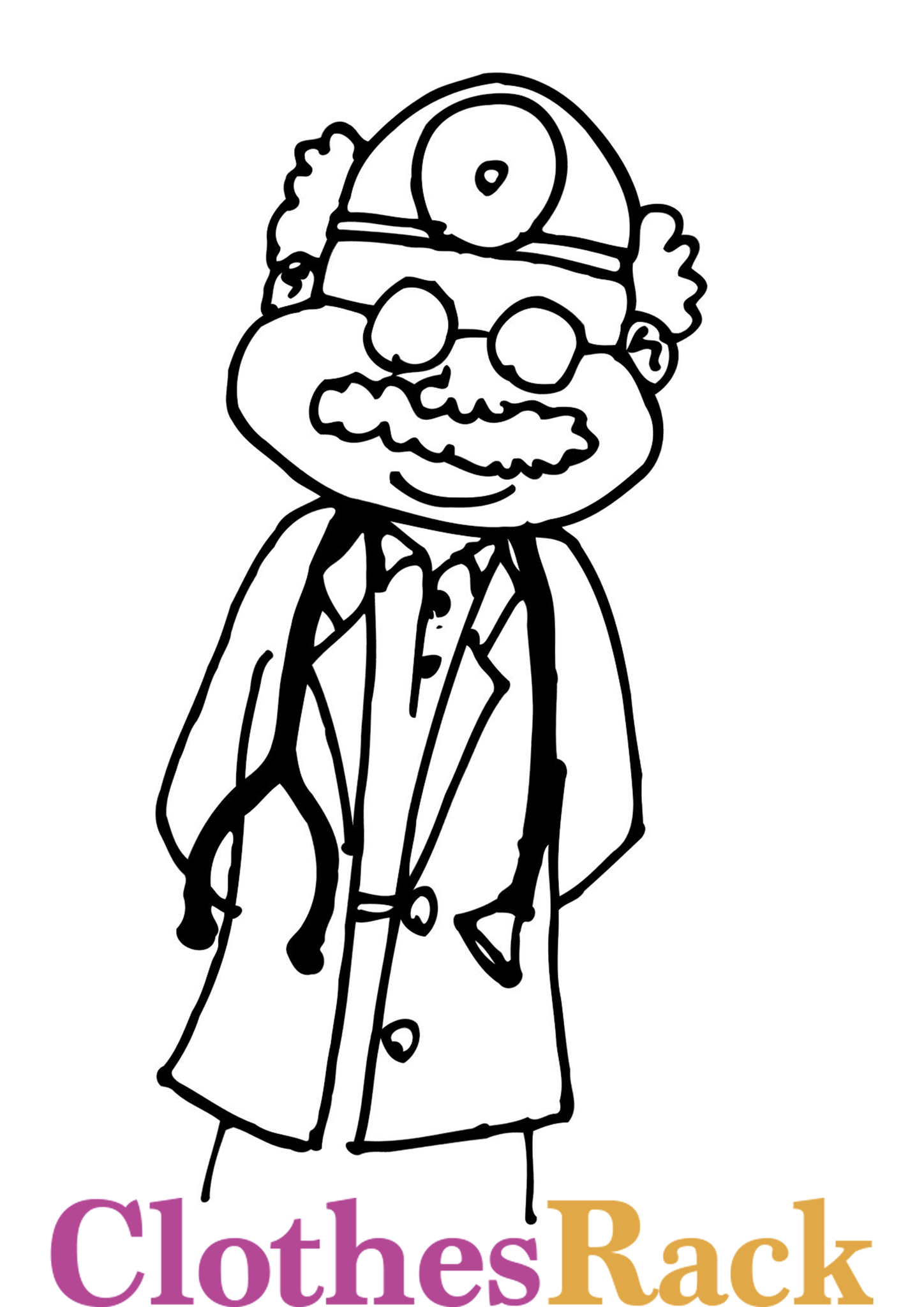 Doctor Colouring Page | Medicine Colouring Page | Medical Colouring Page